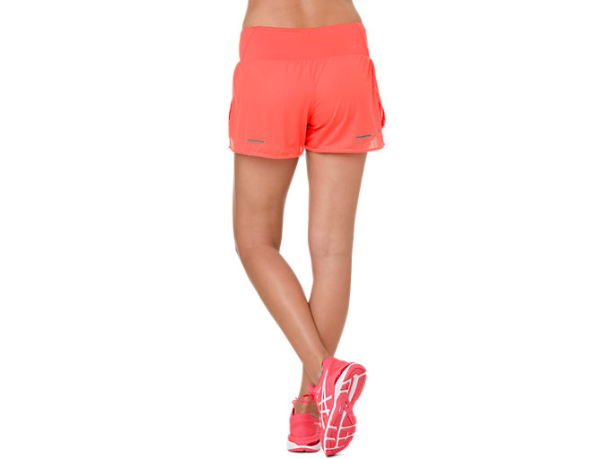 Back view of COOL 2-IN-1 SHORT, FLASH CORAL/ CORAL PINK