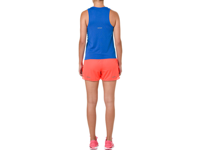 Back view of COOL 2-IN-1-SHORTS, FLASH CORAL/ CORAL PINK