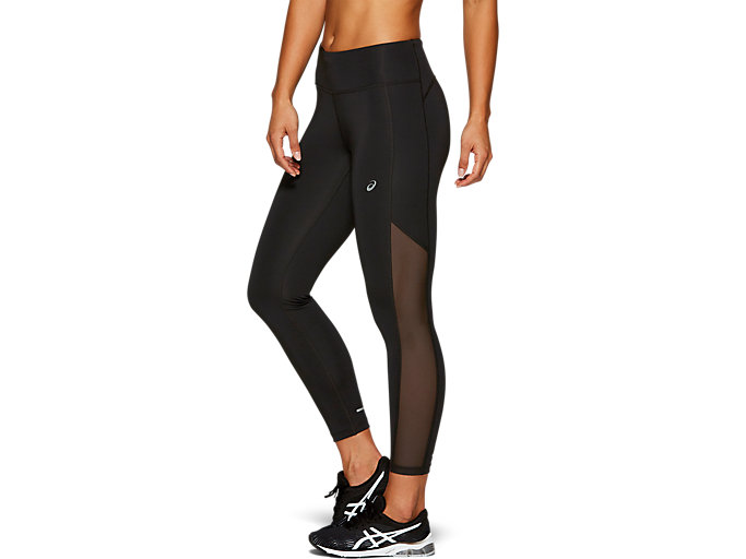 Side view of CROP TIGHT, PERFORMANCE BLACK