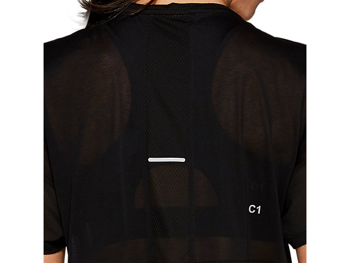 Back view of STYLE TOP, PERFORMANCE BLACK