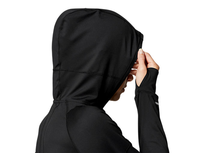 Alternative image view of THERMOPOLIS 1/2 ZIP LS HOODIE, PERFORMANCE BLACK