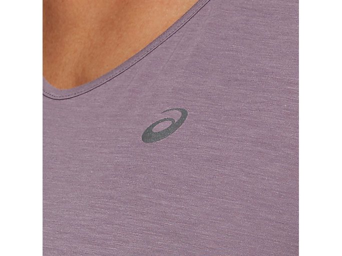 Alternative image view of V-NECK SS TOP, LAVENDER GREY