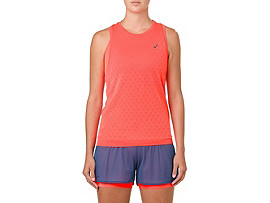 Front Top view of GEL-COOL SLEEVELESS, MP CLASSIC RED