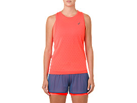 Front Top view of GEL-COOL SLEEVELESS, FLASH CORAL