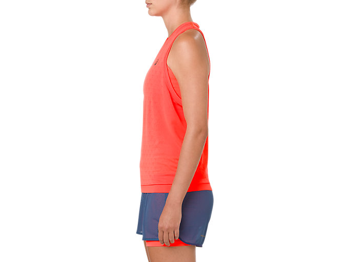 Side view of GEL-COOL SLEEVELESS, FLASH CORAL