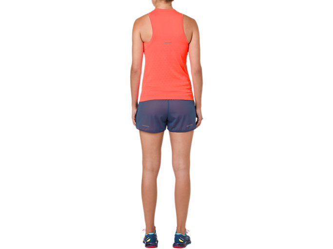 Back view of GEL-COOL SLEEVELESS, FLASH CORAL