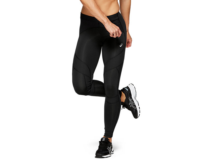 Front Top view of LEG BALANCE TIGHT 2, PERFORMANCE BLACK