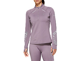 Front Top view of LITE-SHOW™ 2 WINTER LS 1/2 ZIP TOP, Lavender Grey