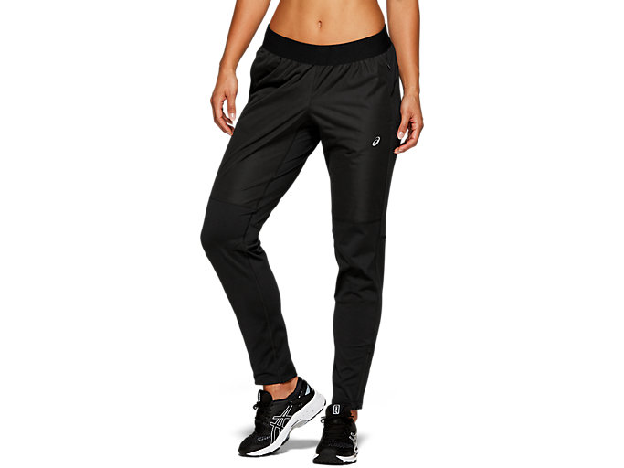 Front Top view of ACCELERATE PANT, PERFORMANCE BLACK
