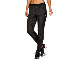 Front Top view of PANT, PERFORMANCE BLACK