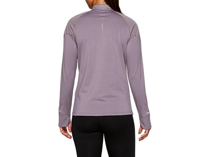 Back view of WINDBLOCK 1/2 ZIP, Lavender Grey
