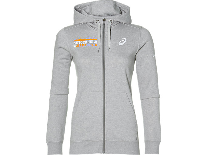 Front Top view of FZ HOODIE ST, HEATHER GREY