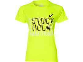 Front Top view of TS TECHNICAL GRAPHIC 1 ST, SAFETY YELLOW