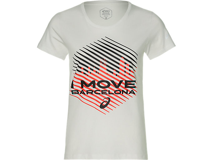 Front Top view of TS COTTON GRAPHIC 3 BM, BRILLIANT WHITE