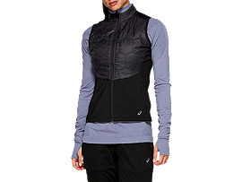 Front Top view of WINTER VEST, PERFORMANCE BLACK