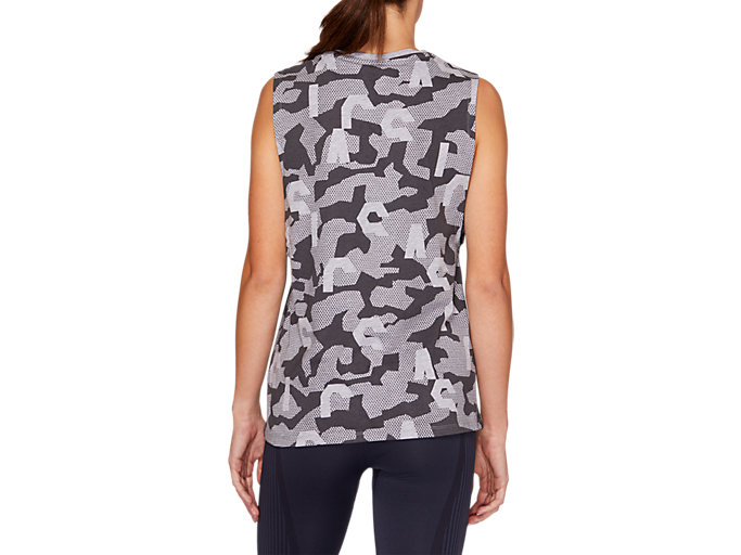 Back view of VIVID IN MOTION Muscle Tank