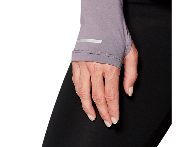 Alternative image view of THERMOPOLIS LS 1/2 ZIP, LAVENDER GREY
