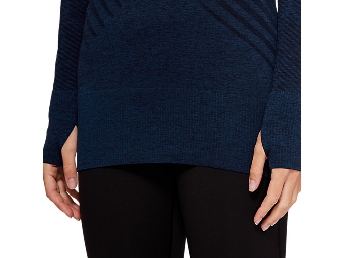 Alternative image view of SEAMLESS LS TOP, MAKO BLUE HEATHER