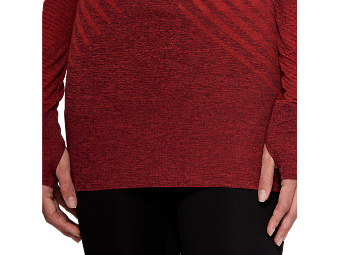 Alternative image view of SEAMLESS LS TOP, ROSELLE HEATHER
