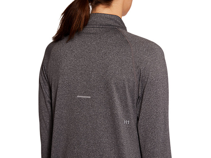 Alternative image view of WINTER 1/2 ZIP TOP, DARK GREY HEATHER