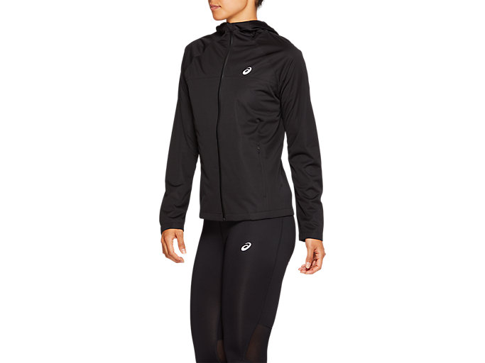 Side view of ACCELERATE JACKET, PERFORMANCE BLACK