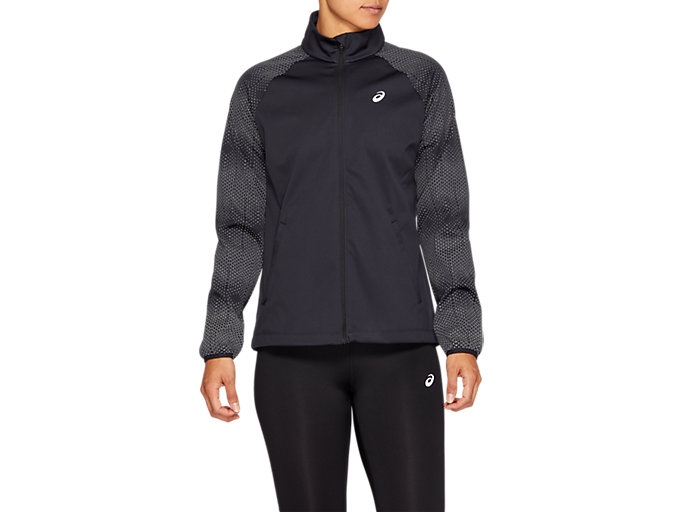 Front Top view of REFLECTIVE JACKET, PERFORMANCE BLACK