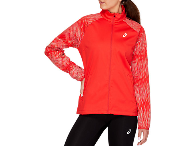 Front Top view of REFLECTIVE JACKET, RED ALERT