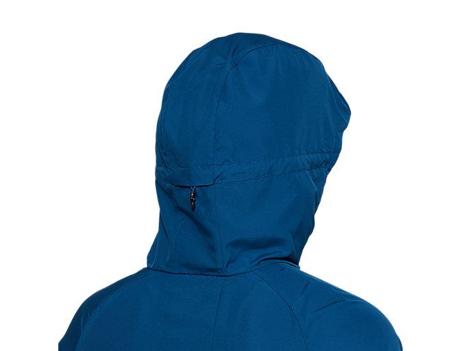 Alternative image view of RUN HOOD JACKET, MAKO BLUE