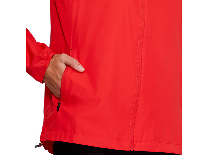 Alternative image view of RUN HOOD JACKET, RED ALERT