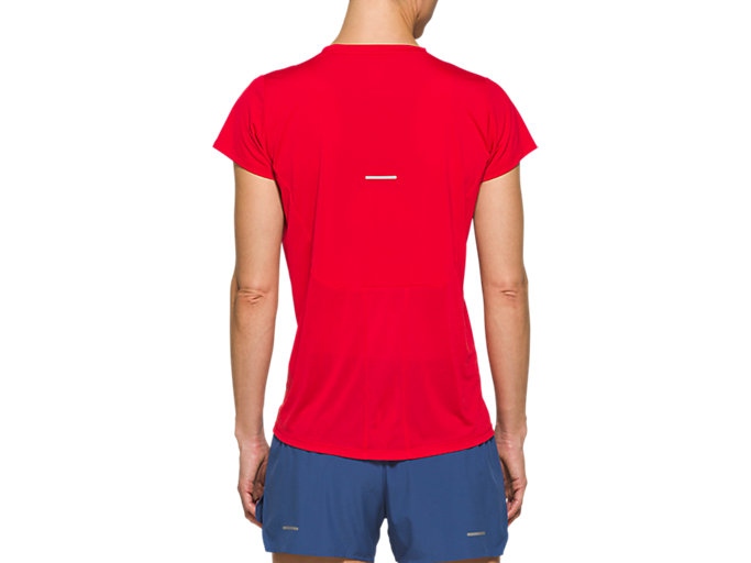 Back view of RACE SS TOP, CLASSIC RED
