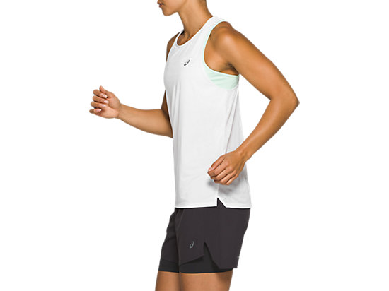 RACE SLEEVELESS BRILLIANT WHITE
