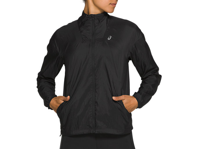 Front Top view of TOKYO JACKET, PERFORMANCE BLACK