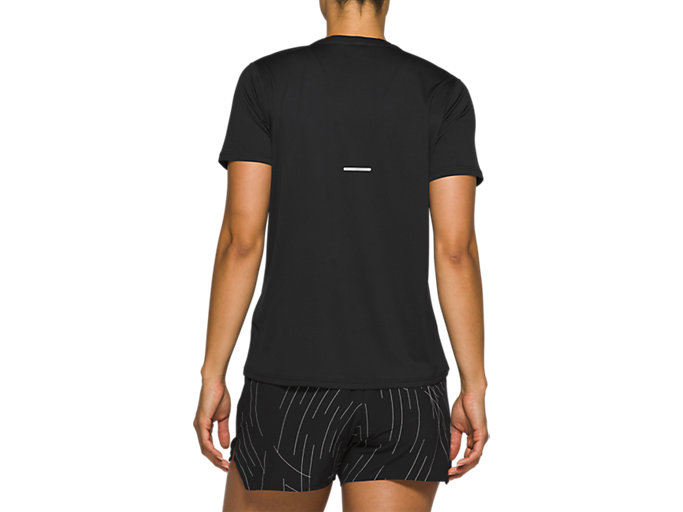 Back view of Night Track Short Sleeve Top