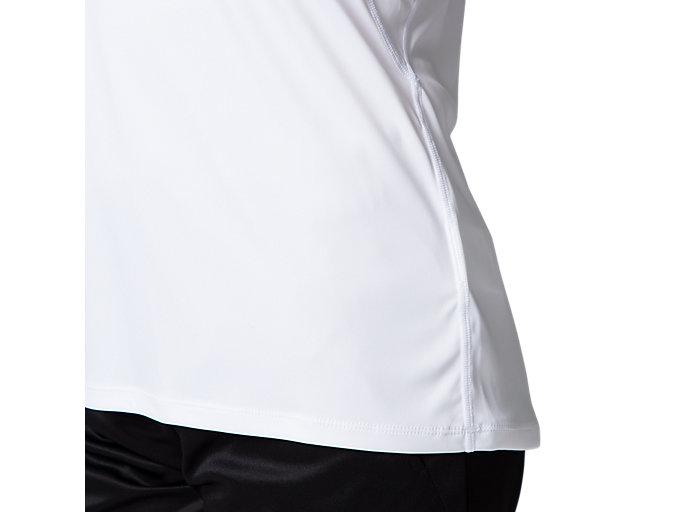 Alternative image view of W'S UVカットショートスリーブトップ, ブリリアントホワイト