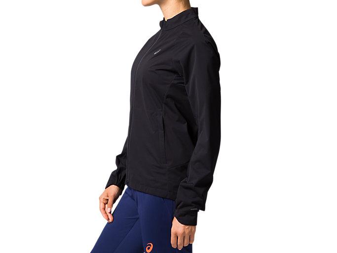 Side view of W'Sランニングブリーズジャケット, パフォーマンスブラック