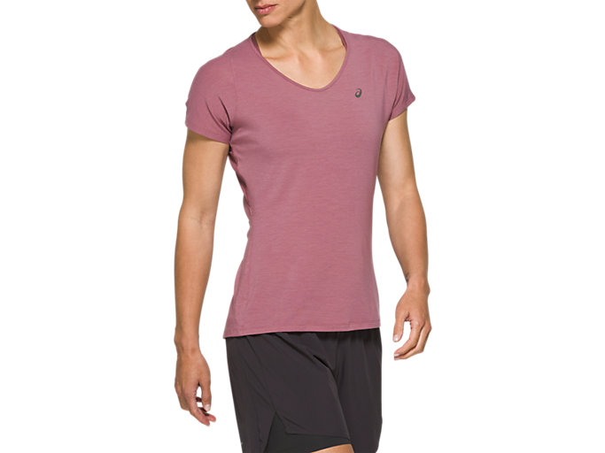 Front Top view of V-Neck Short Sleeve Top