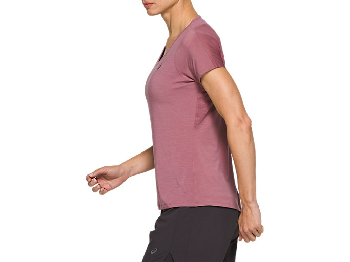 Side view of V-Neck Short Sleeve Top