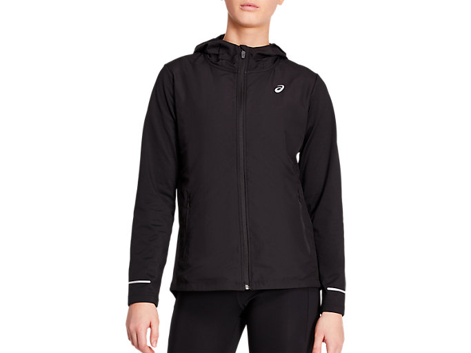 Front Top view of LITE SHOW WINTER JACKET, PERFORMANCE BLACK