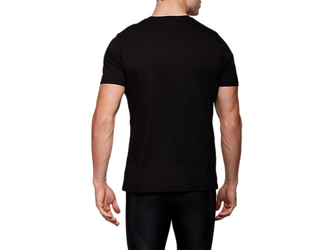 Back view of METARIDE SS TOP, PERFORMANCE BLACK