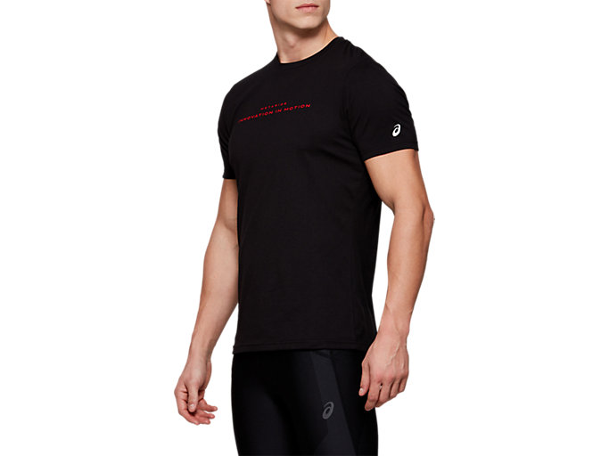 Side view of METARIDE SS TOP, PERFORMANCE BLACK