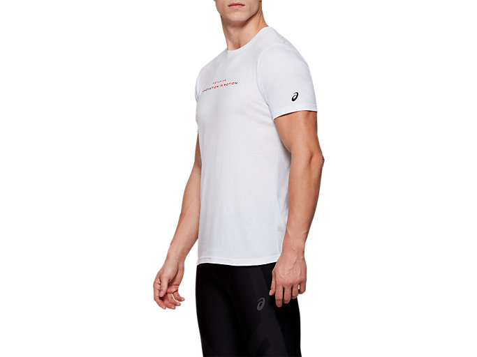 Side view of METARIDE SS TOP, BRILLIANT WHITE