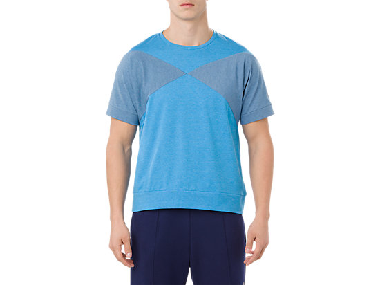 HEX BLOCK SS TOP, RACE BLUE