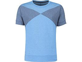 남성 트레이닝 컬러블럭 반팔 라운드 티셔츠