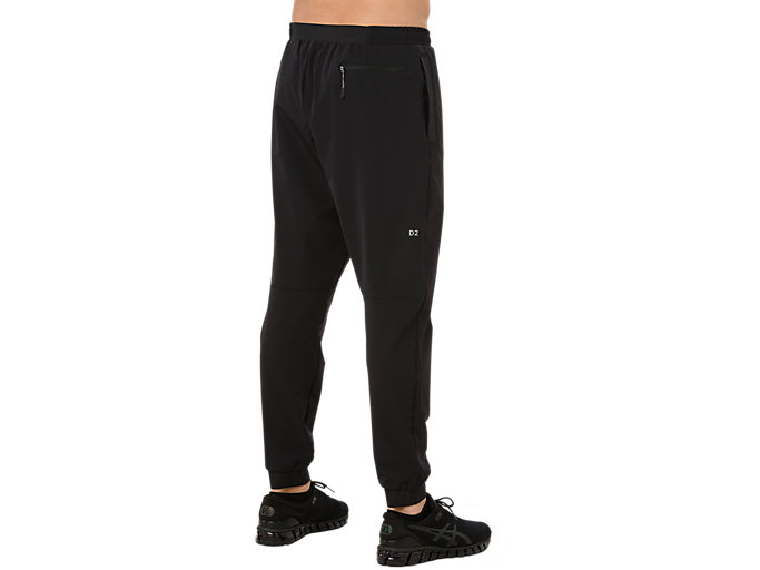 Back view of STRETCH WOVEN PANT, PERFORMANCE BLACK