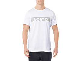 ASICS GRAPHIC SS TOP, BRILLIANT WHITE