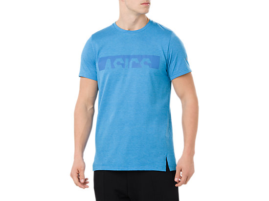 ASICS GRAPHIC SS TOP, RACE BLUE