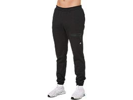 Front Top view of GEL-HEAT FLEECE PANT, PERFORMANCE BLACK