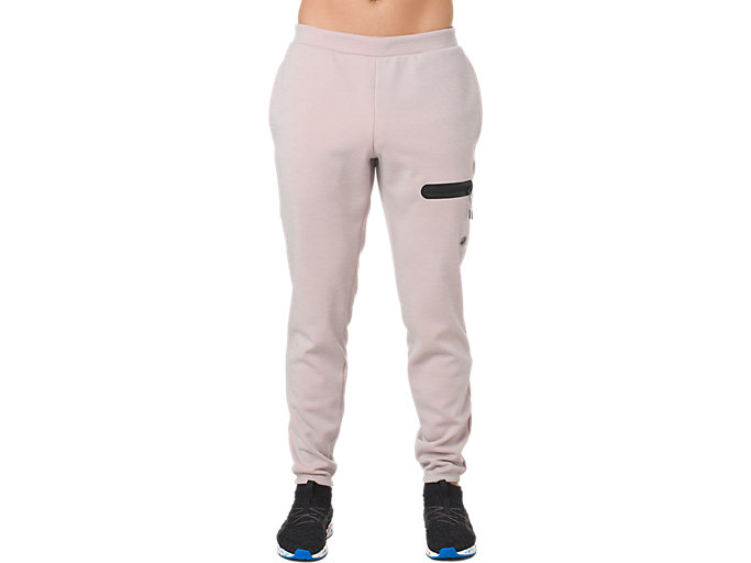 Front Top view of GEL-HEAT FLEECE PANT, MID GREY