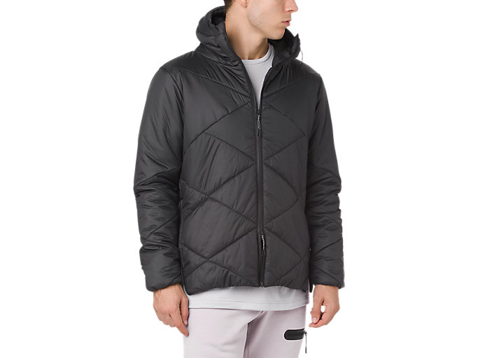 Front Top view of GEL-HEAT INSULATION JACKET, PERFORMANCE BLACK