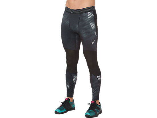 ASICS BASE LAYER GRAPHIC TIGHT, PERFORMANCE BLACK
